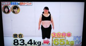 斎藤こず恵 3ヶ月のダイエット後