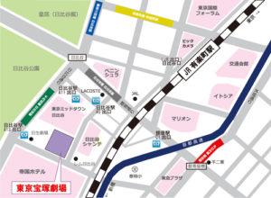 宝塚劇場の地図